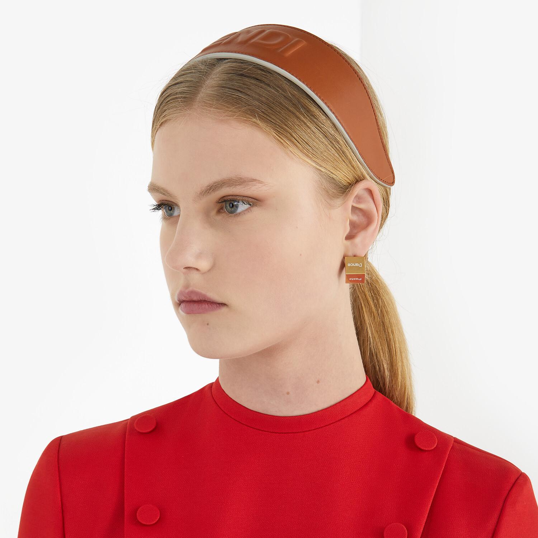 FENDI SIGNATURE EARRINGS - Gold-colored earrings - view 3 detail