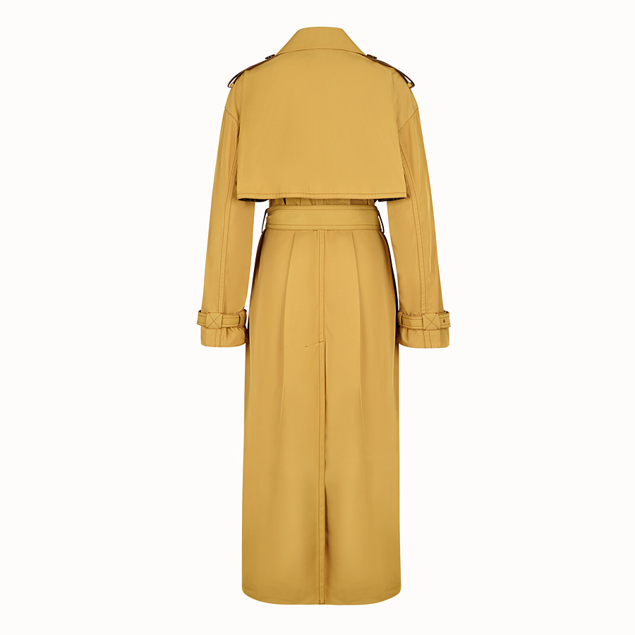 FENDI OVERCOAT - Yellow nylon trench coat - view 2 detail
