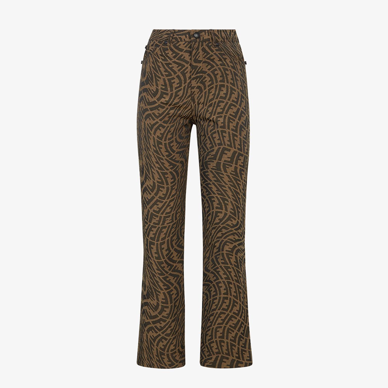 FENDI PANTALONE - Pantalone in canvas marrone - vista 1 dettaglio