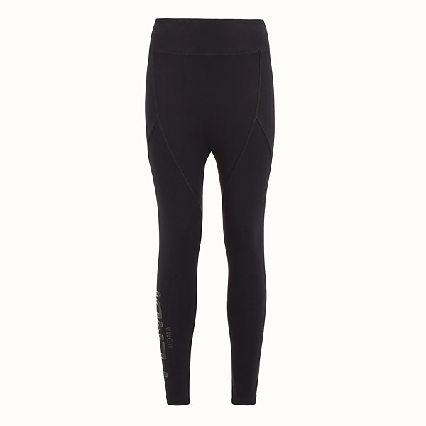 FENDI LEGGINGS - Hose aus schwarzem Hightech-Gewebe - view 1 small thumbnail