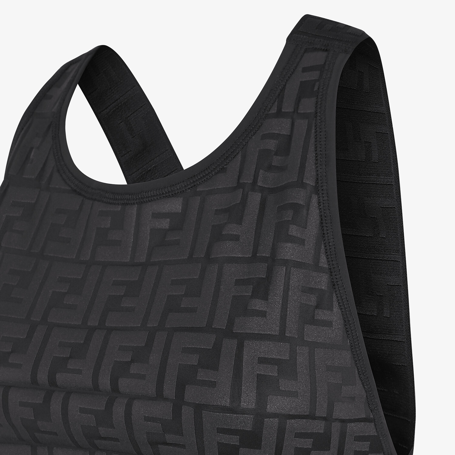 FENDI SPORTS TOP - Black tech fabric top - view 3 detail