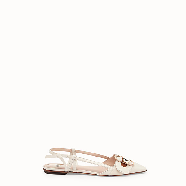 FENDI SLINGBACKS - White leather slingbacks - view 1 small thumbnail