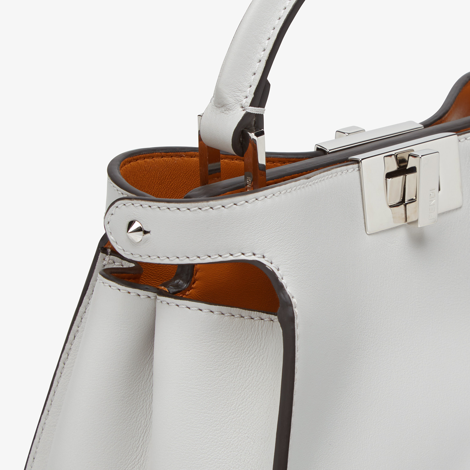 FENDI PEEKABOO ICONIC ESSENTIALLY - Gray leather bag - view 6 detail
