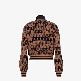 FENDI BOMBER - Inlaid mink and knitted fabric bomber - view 2 thumbnail
