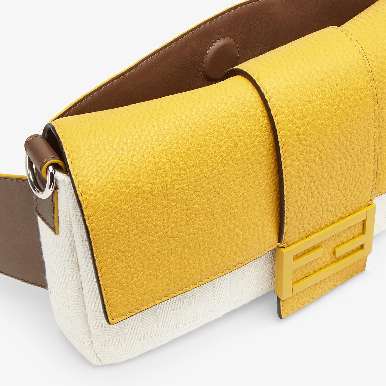 FENDI BAGUETTE - White canvas bag - view 6 detail