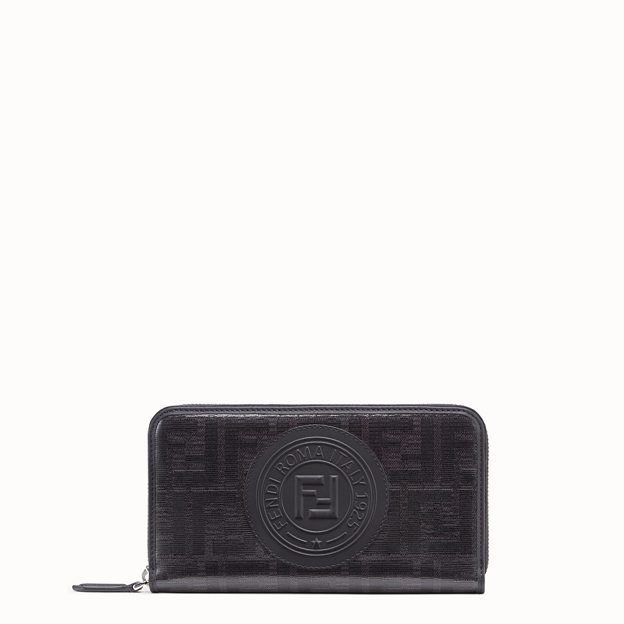 FENDI ZIP-AROUND - Black fabric wallet - view 1 detail