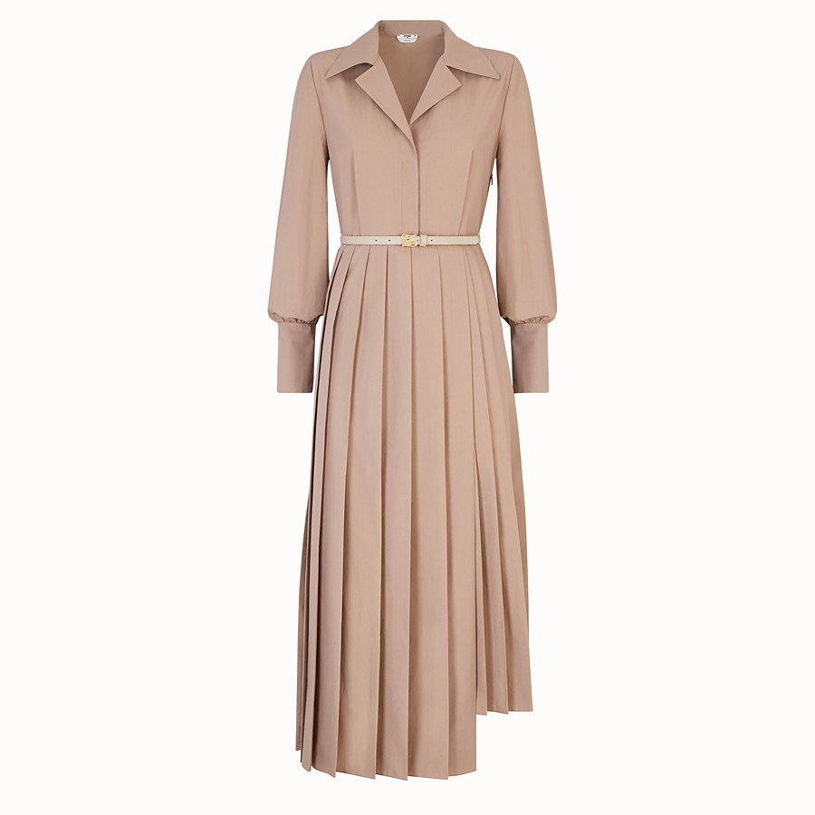 FENDI DRESS - Beige cotton taffeta dress - view 1 detail