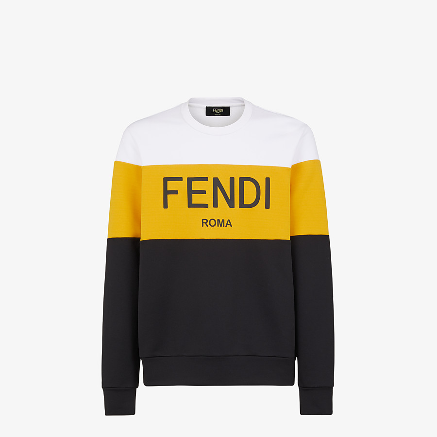 FENDI SWEATSHIRT - Multicolor cotton sweatshirt - view 1 detail