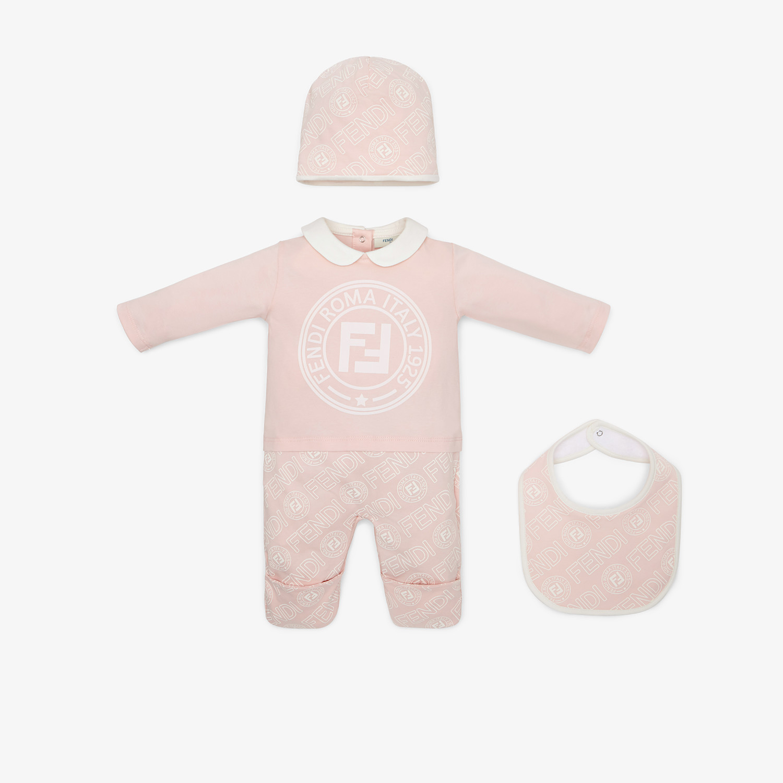 FENDI BABY'S KIT - Pink cotton jersey baby kit - view 1 detail