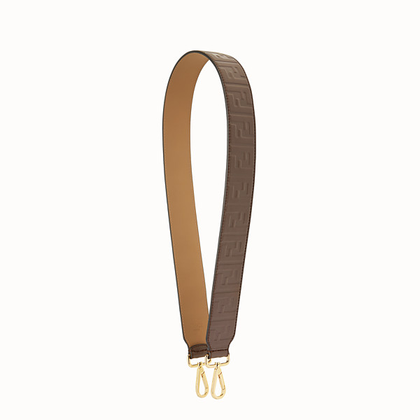FENDI STRAP YOU - Leather shoulder strap - view 1 small thumbnail