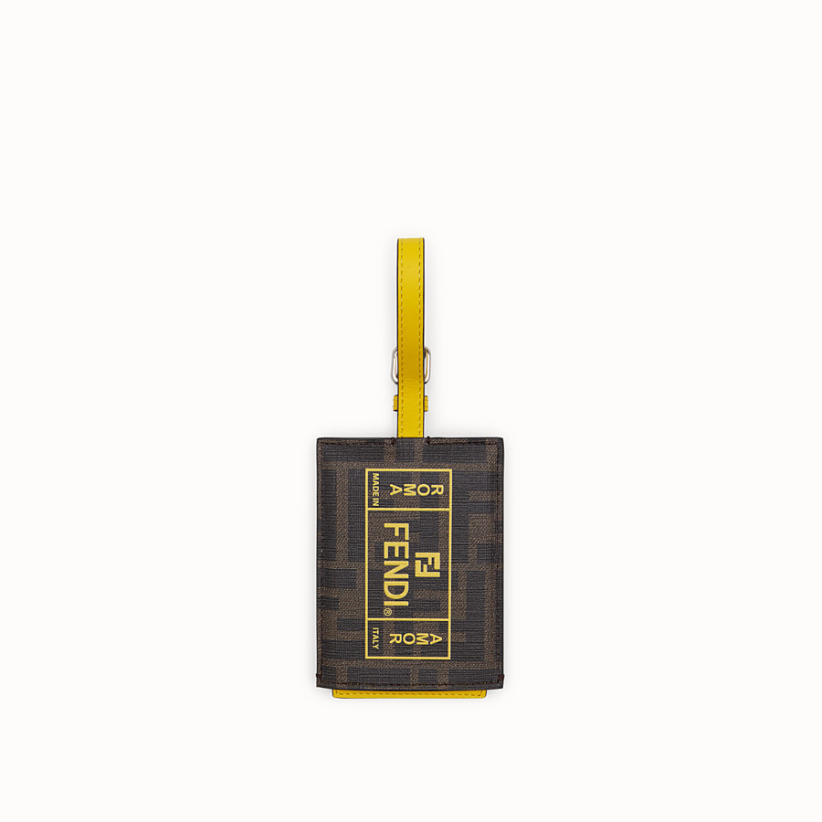 FENDI ADDRESS CARD - Yellow PU travel tag - view 1 detail