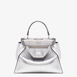 FENDI PEEKABOO ICONIC MEDIUM - Silver leather bag - view 1 thumbnail