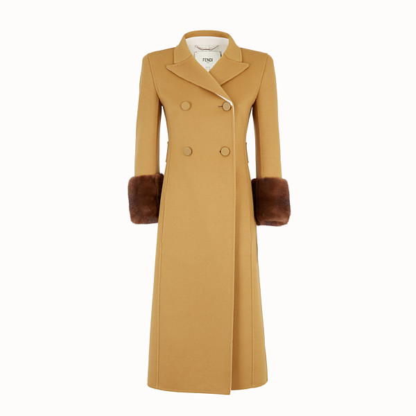 FENDI OVERCOAT - Yellow wool overcoat - view 1 small thumbnail