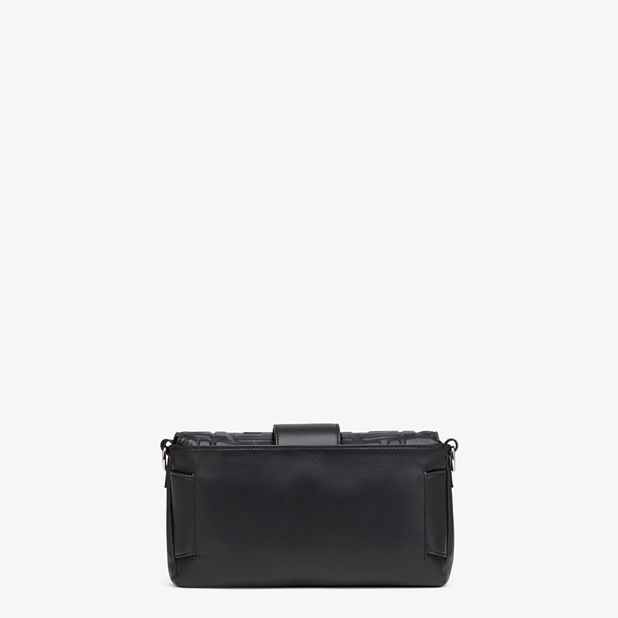 FENDI BAGUETTE - Black nappa leather bag - view 4 detail