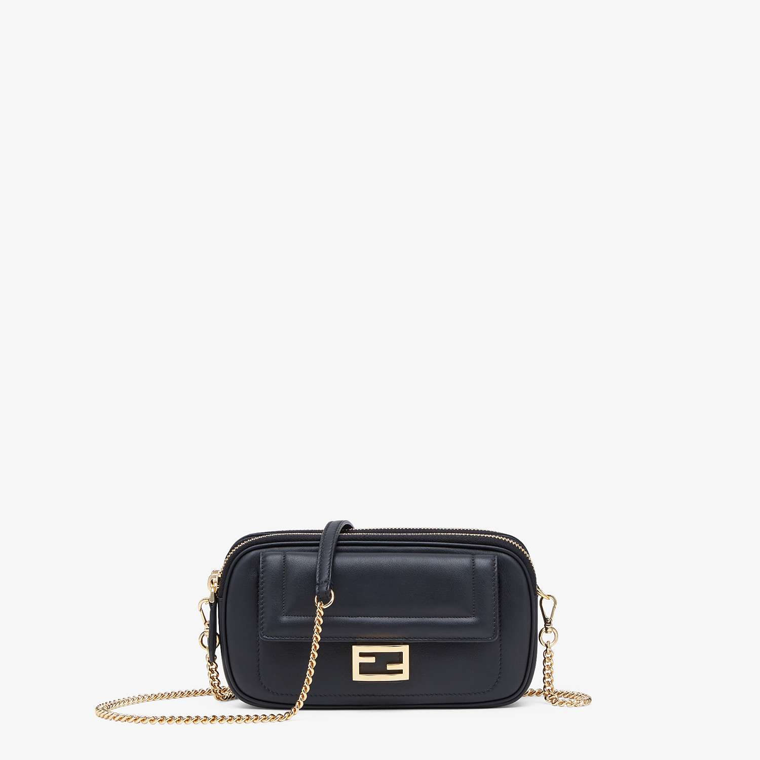 FENDI EASY 2 BAGUETTE - Black leather mini-bag - view 1 detail