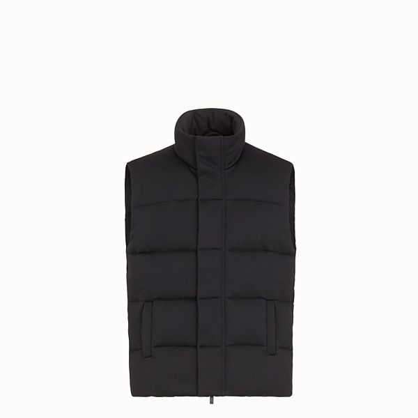 FENDI GILET - Black tech jersey gilet - view 1 small thumbnail