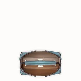 FENDI PEEKABOO ICONIC ESSENTIALLY - Light blue leather bag - view 5 thumbnail