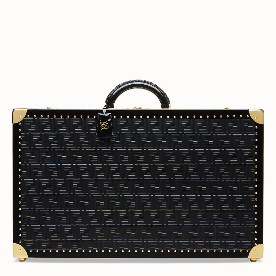 FENDI LARGE TRAVEL BAG - Black leather suitcase - view 1 detail