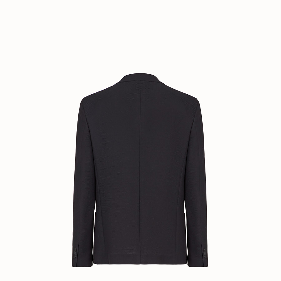 FENDI JACKET - Black cotton blazer - view 2 detail