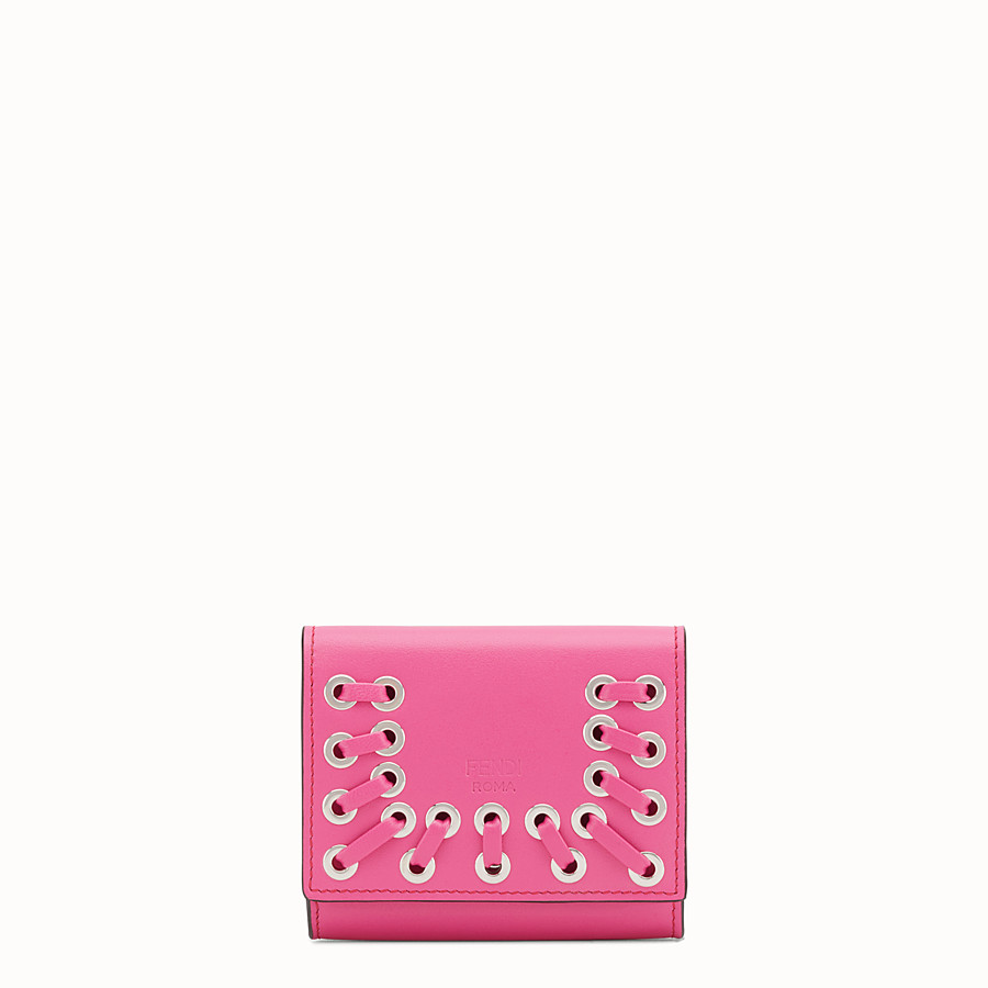 FENDI CARD HOLDER - Pink leather card holder - view 1 detail