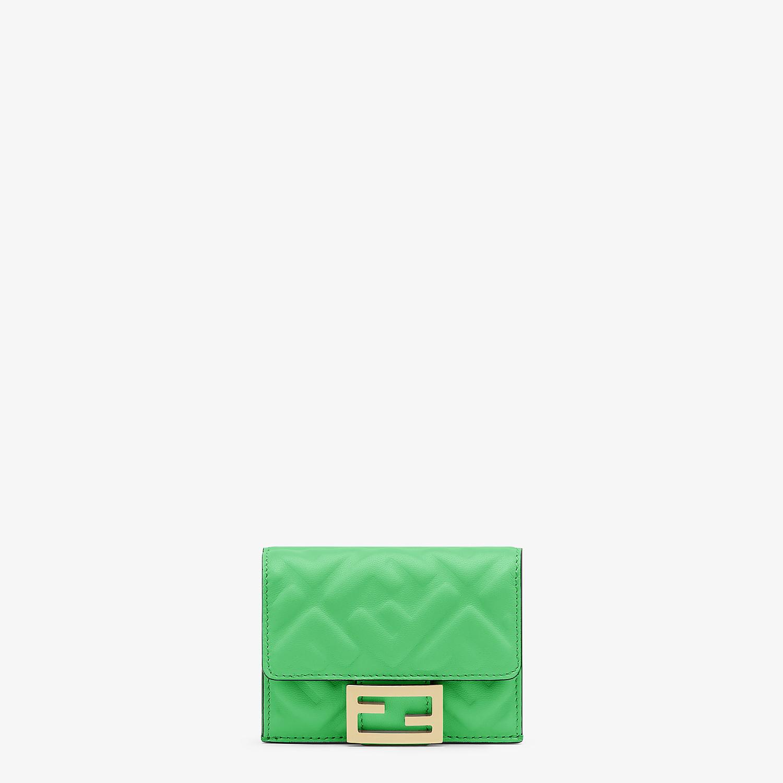 FENDI MICRO TRIFOLD - Green nappa leather wallet - view 1 detail