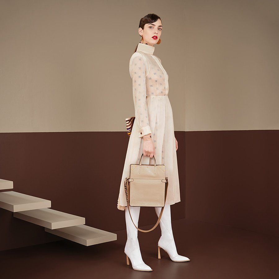 FENDI DRESS - Beige organza dress - view 4 detail