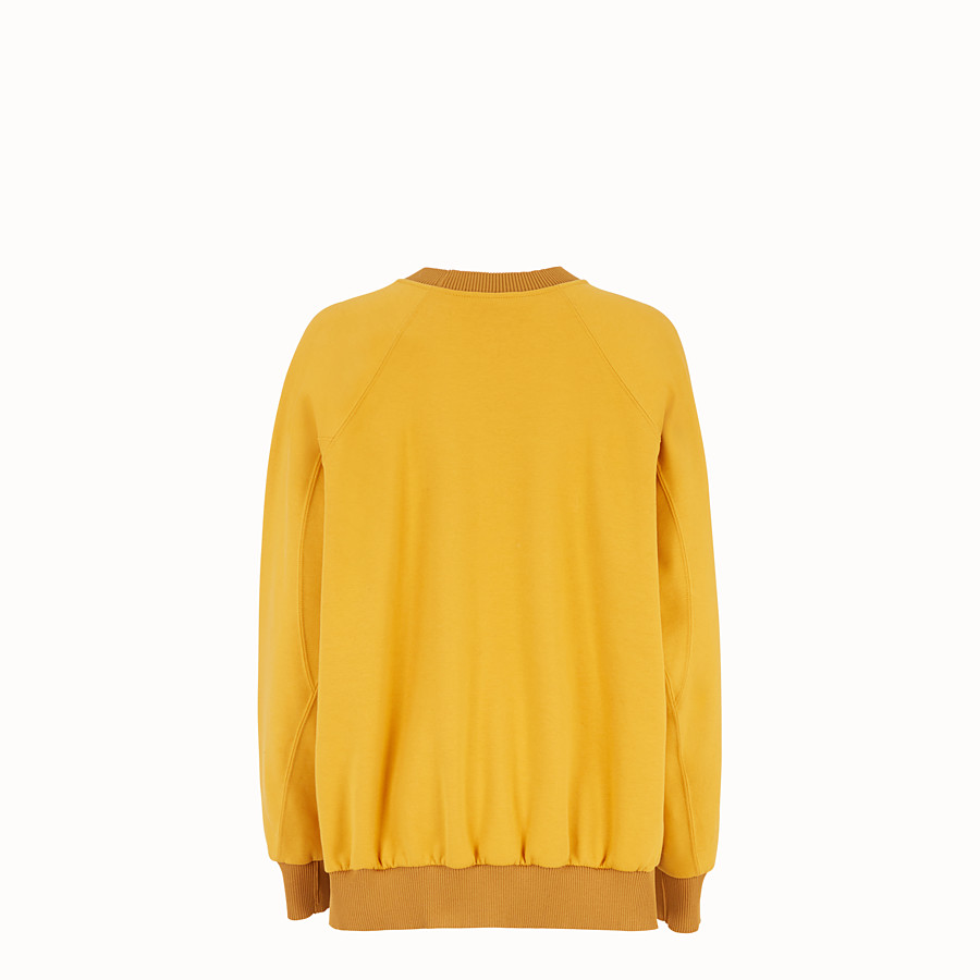 FENDI SWEATSHIRT - Yellow cotton sweatshirt - view 2 detail