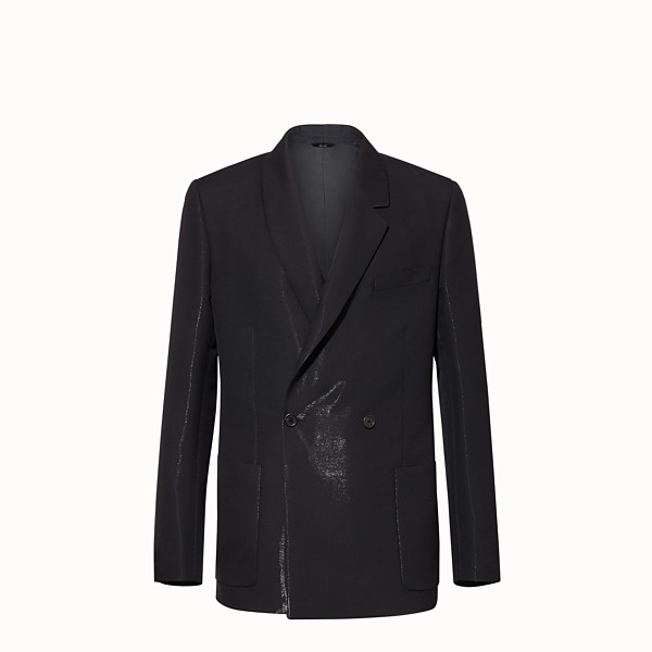 FENDI JACKET - Black tech wool blazer - view 1 small thumbnail
