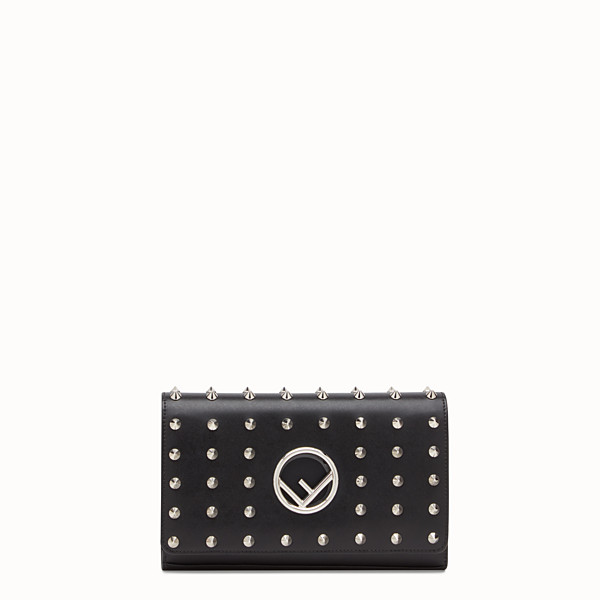 FENDI WALLET ON CHAIN - Black leather mini-bag - view 1 small thumbnail