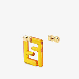 FENDI FF OHRRINGE SMALL - Ohrringe aus Plexiglas in Gelb - view 2 thumbnail