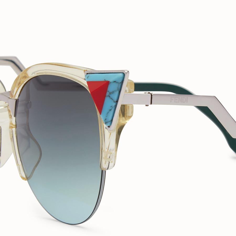 FENDI IRIDIA - Yellow sunglasses with stones - view 3 detail