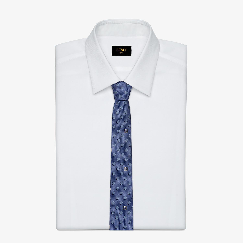 FENDI TIE - Blue silk tie - view 2 detail