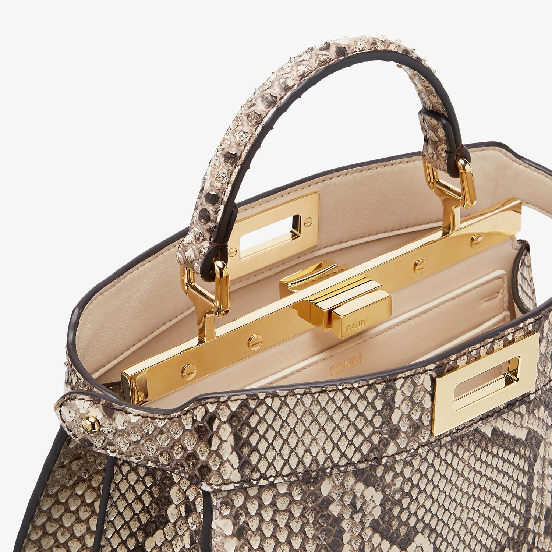 FENDI PEEKABOO ISEEU SMALL - Natural python leather bag - view 6 detail