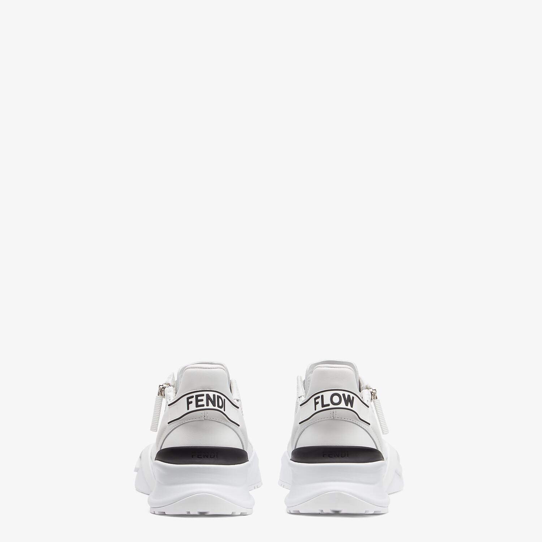 FENDI FENDI FLOW - White leather low-tops - view 3 detail