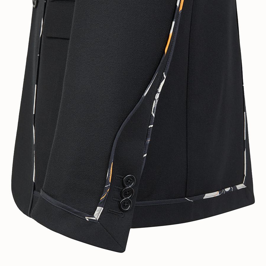 FENDI GIACCA - Blazer in twill nero - vista 3 dettaglio