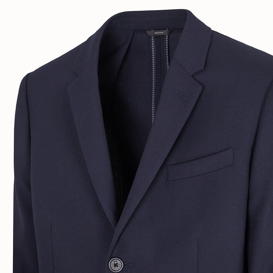 FENDI GIACCA - Blazer in lana blu - vista 3 dettaglio