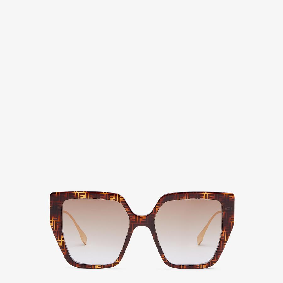 FENDI BAGUETTE - FF Havana acetate and metal sunglasses - view 1 detail