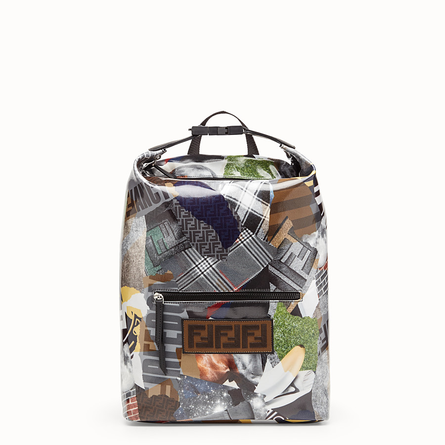 FENDI BACKPACK - Multicolour canvas backpack - view 1 detail