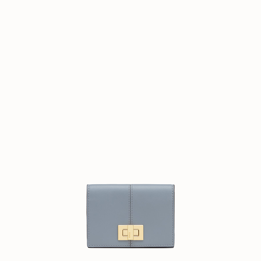 FENDI CARD HOLDER - Grey leather wallet - view 1 detail