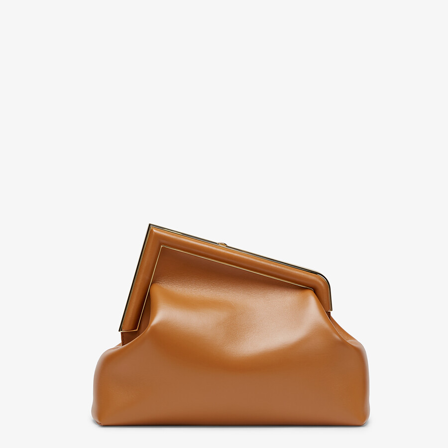 FENDI FENDI FIRST MEDIUM - Brown leather bag - view 4 detail