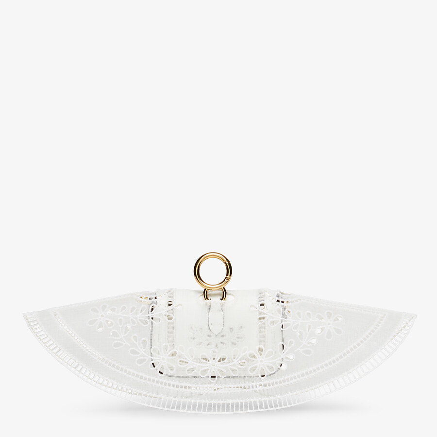FENDI NANO BAGUETTE CHARM - White leather charm - view 3 detail