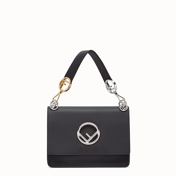FENDI KAN I LOGO - Black leather bag - view 1 small thumbnail