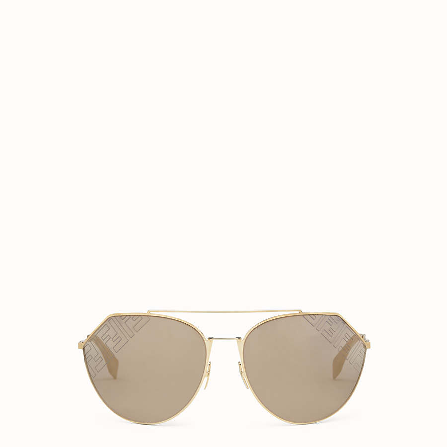FENDI EYELINE 2.0 - Beige and gold sunglasses - view 1 detail