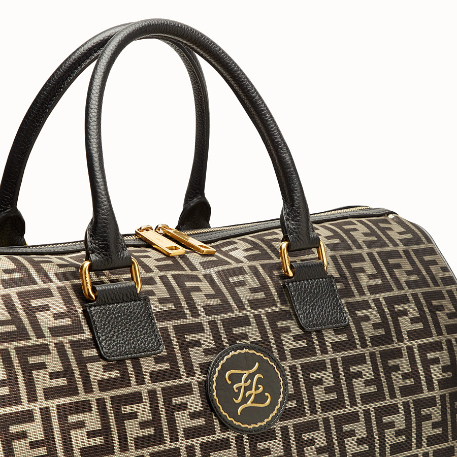FENDI TRAVEL BAG - Large gold-colour fabric bag - view 5 detail