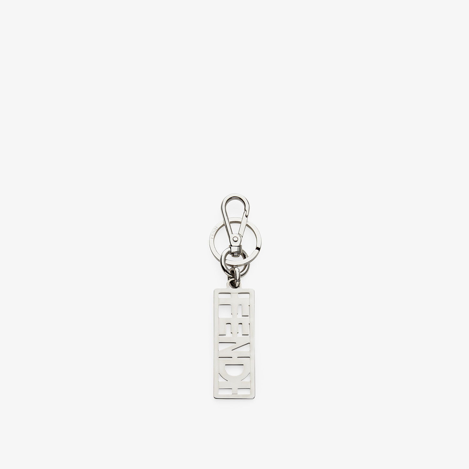 FENDI KEY RING - Silver metal key ring - view 1 detail