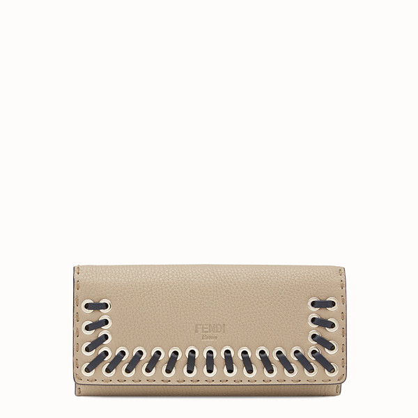 FENDI CONTINENTAL - Selleria beige and grey continental wallet - view 1 small thumbnail