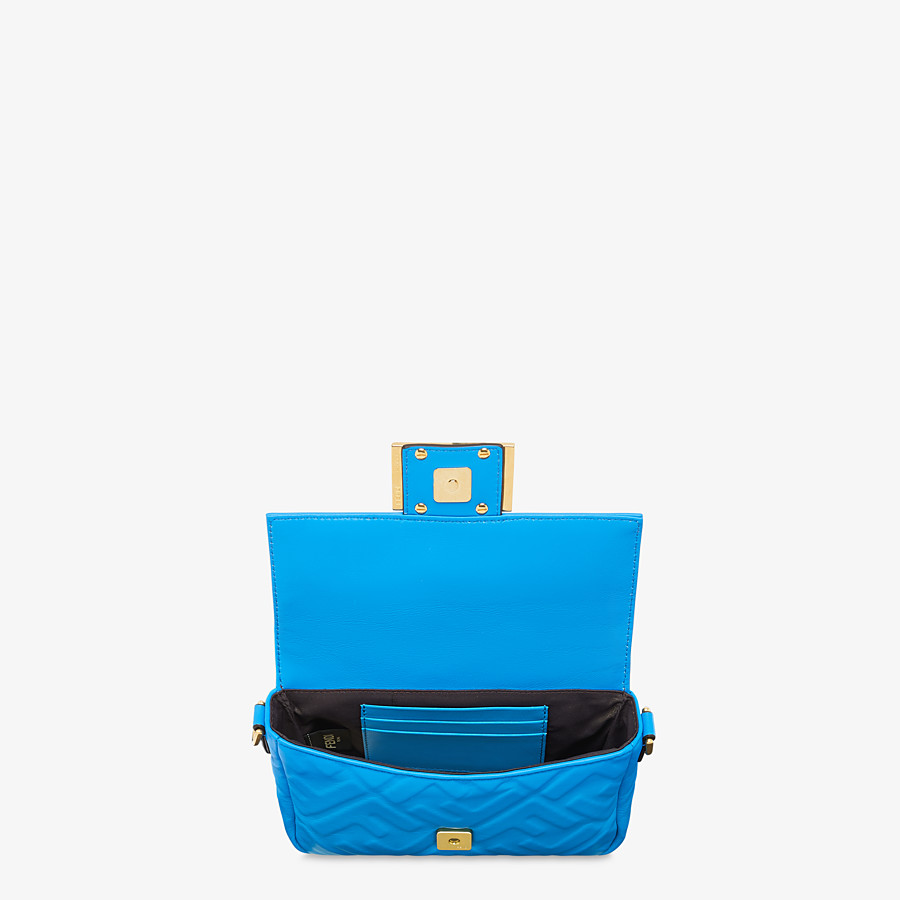 FENDI BAGUETTE - Blue leather minibag - view 4 detail