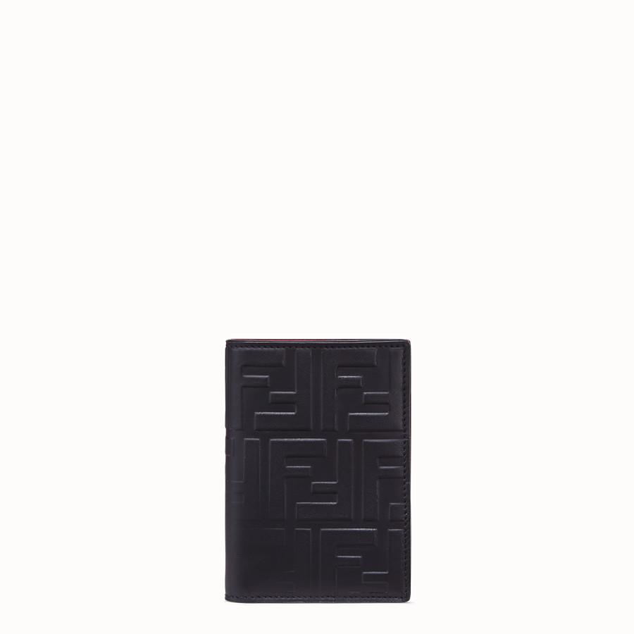 FENDI VERTICAL CARD HOLDER - Black calfskin wallet - view 1 detail