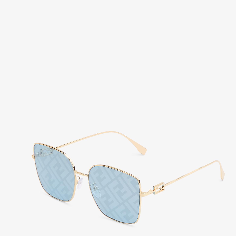 FENDI BAGUETTE - Sunglasses featuring light blue lenses with FF logo - view 2 detail