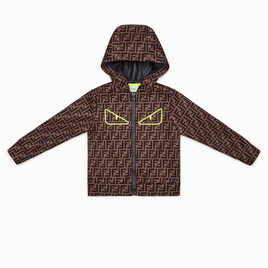 FENDI SWEATSHIRT - Brown tech fabric sweatshirt - view 1 detail